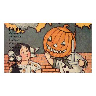 Muchacho de la calabaza (tarjeta de Halloween del Tarjetas De Visita