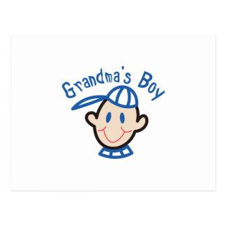 Muchacho de las abuelas postal