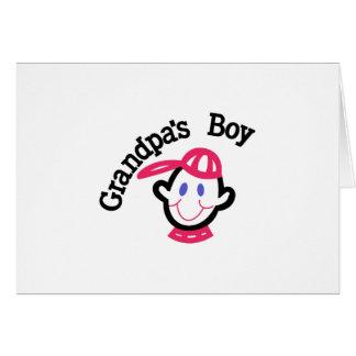 Muchacho de los abuelos tarjeta de felicitación