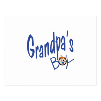 Muchacho de los abuelos postal