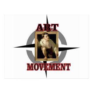 muchacho del arte del movimiento postal