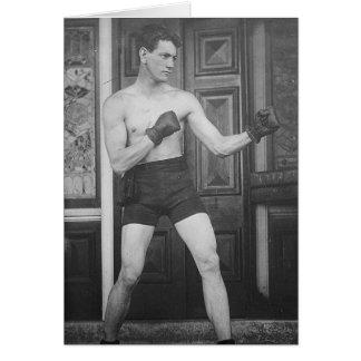 Muchacho del boxeo tarjeta de felicitación
