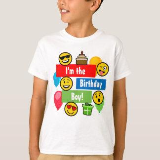 Muchacho del cumpleaños de Emoji Camiseta