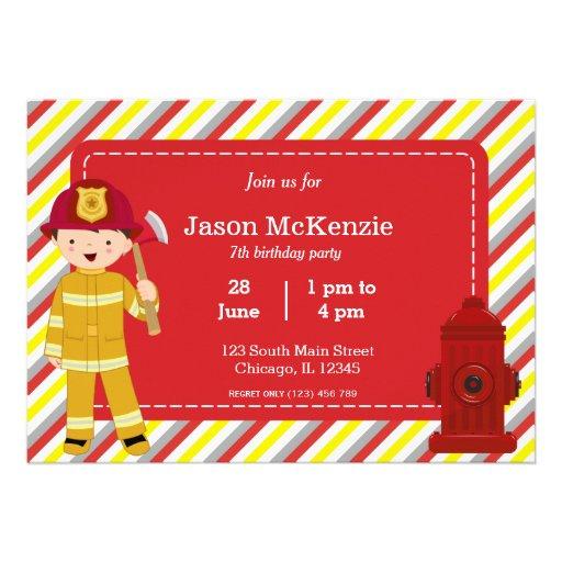 Muchacho del cumpleaños del bombero comunicados