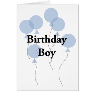 Muchacho del cumpleaños tarjeta de felicitación