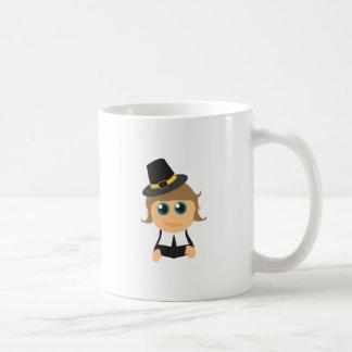 Muchacho del peregrino taza de café