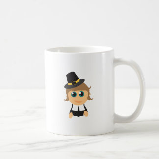 Muchacho del peregrino taza básica blanca