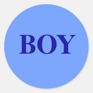 Muchacho - el género del bebé revela al pegatina