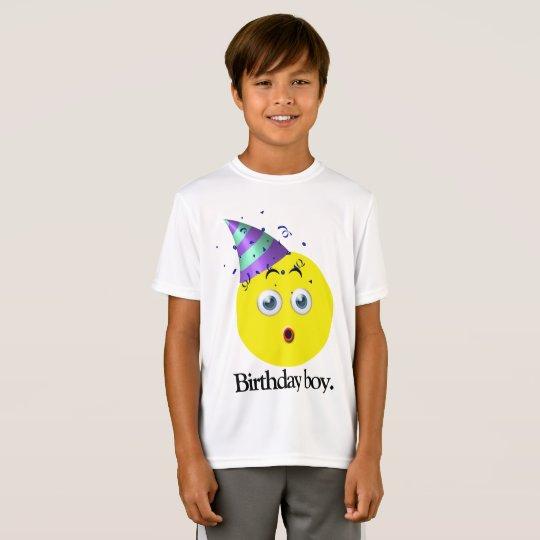 Muchacho Emoji del cumpleaños Camiseta