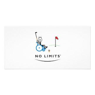 Muchacho especial del golf tarjeta con foto personalizada