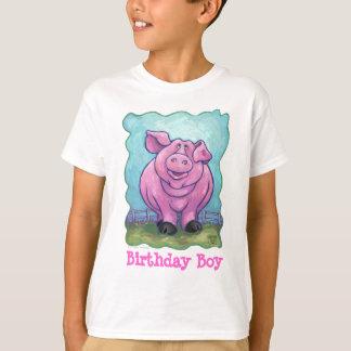 Muchacho lindo del cumpleaños del cerdo camiseta