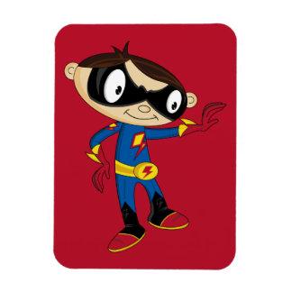 Muchacho lindo del super héroe imanes flexibles