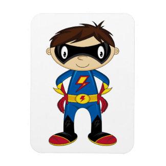 Muchacho lindo del super héroe imanes