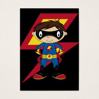 Muchacho lindo del super héroe tarjeta de negocios