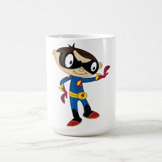 Muchacho lindo del super héroe tazas