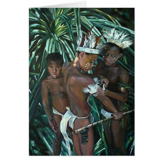 Muchachos de la isla tarjeta de felicitación