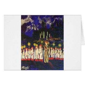 Muchachos del coro tarjetas