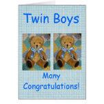 Muchachos gemelos tarjeta