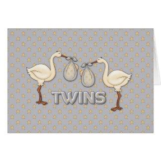 Muchachos gemelos tarjetas