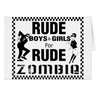 Muchachos groseros y chicas para el zombi grosero tarjetas