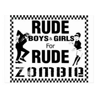 Muchachos groseros y chicas para el zombi grosero postal