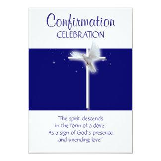 Muchachos religiosos de la paloma de la invitación 12,7 x 17,8 cm
