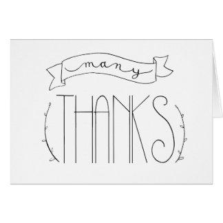 Muchas gracias le agradecen cardar tarjeta de felicitación