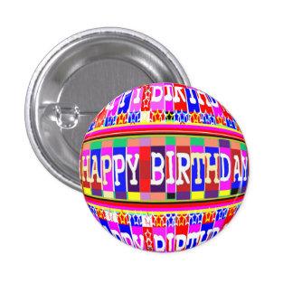 MUCHAS maneras de decir FELIZ cumpleaños Chapa Redonda De 2,5 Cm