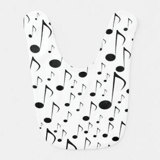 Muchas notas musicales baberos