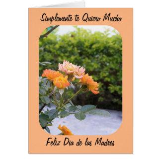 Mucho feliz dia de las madre del quiero del te de tarjeta de felicitación