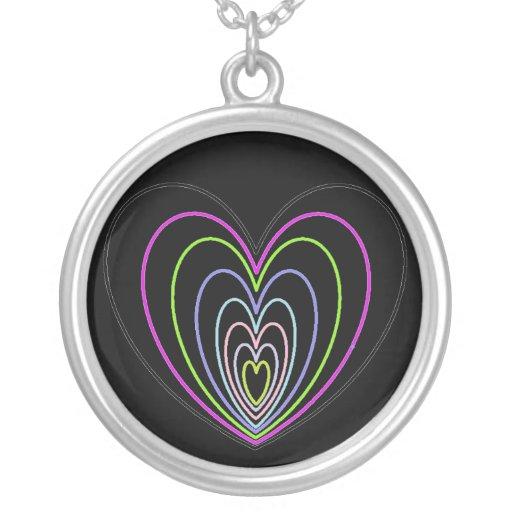 Muchos corazones del neón de la ilusión óptica grimpola