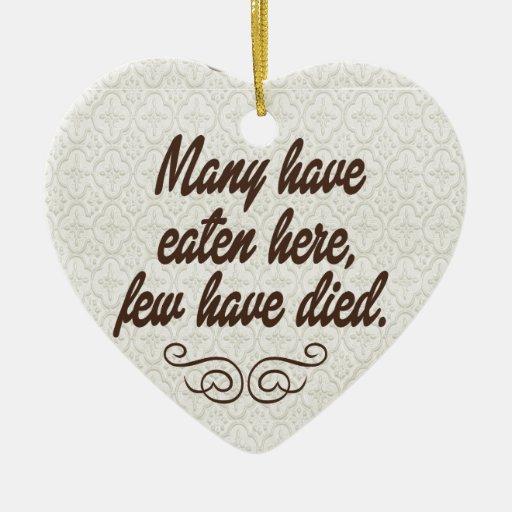 Muchos han comido, pocos han muerto: divertido ornamento de reyes magos