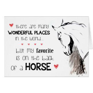Muchos lugares maravillosos tarjeta pequeña