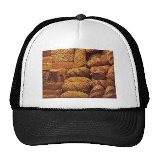 Muchos panes mezclados y fondo de los rollos gorros