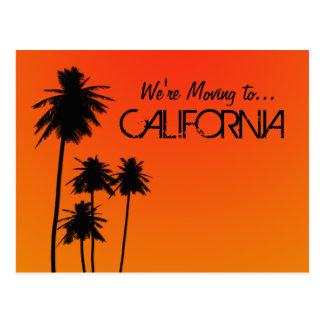 Mudanza a la postal de California