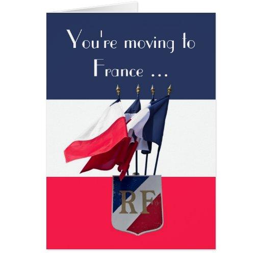 Mudanza a la tarjeta de la buena suerte de Francia