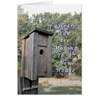 Mudanza a una nueva casa tarjeta de felicitación