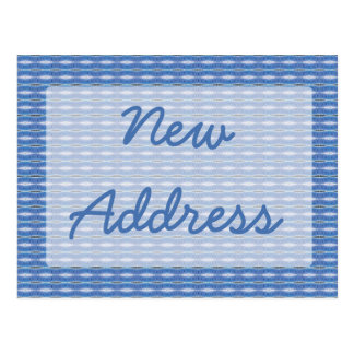 Mudanza azul del modelo postal
