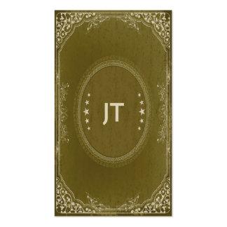 Muebles del vintage en verde tarjetas de visita