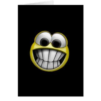Mueca de la cara sonriente feliz tarjeta de felicitación