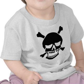 Mueca del cráneo y de los huesos camiseta