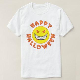 Mueca del monstruo - cara feliz - feliz Halloween Camiseta