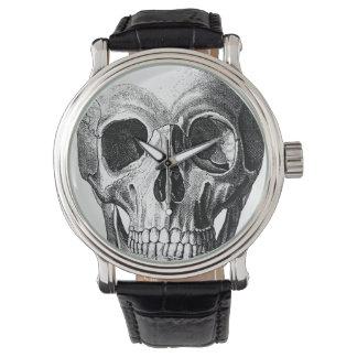 Mueca del reloj del cráneo