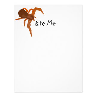 Muérdame araña roja folleto 21,6 x 28 cm