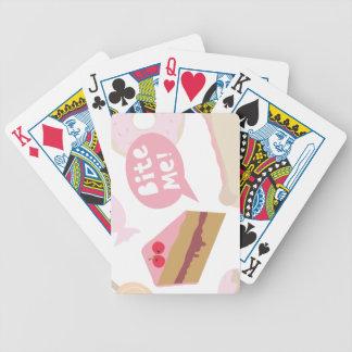 Muérdame, torta del amor barajas de cartas