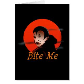 Muérdame vampiro Halloween Tarjetas