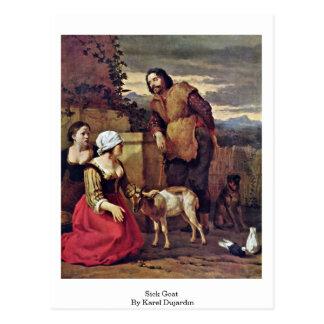 Muere la cabra enferma de Karel Dujardin Postal