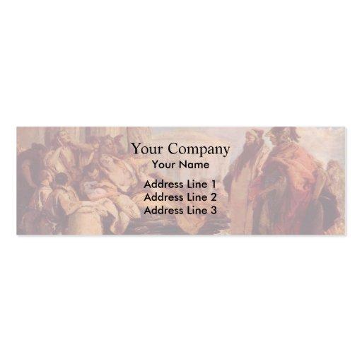 Muerte de Dido de Juan Battista Tiepolo Tarjetas De Visita