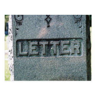 Muerte de la palabra escrita postal