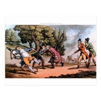 Muerte en la postal del duelo